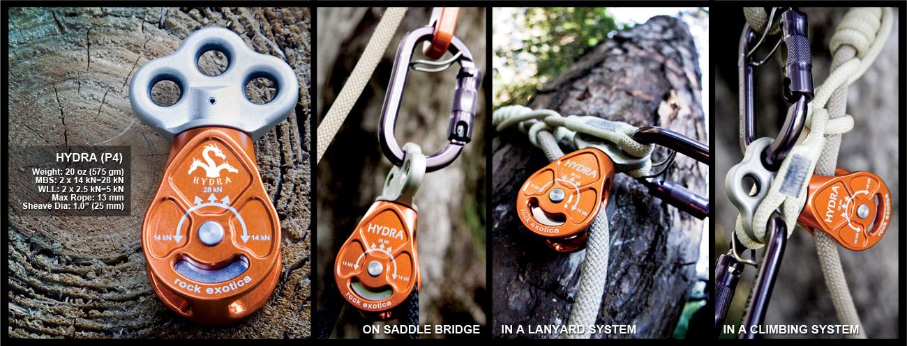 Hydra Triple Attachment Pulley Rock Exotica