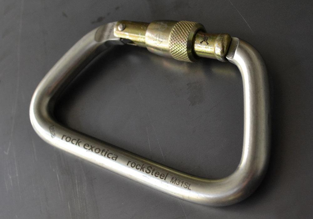 Rocksteel Carabiner Rock Exotica Steel Carabiner Nfpa
